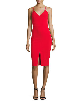 Brooklyn Slit-Front Slip Dress