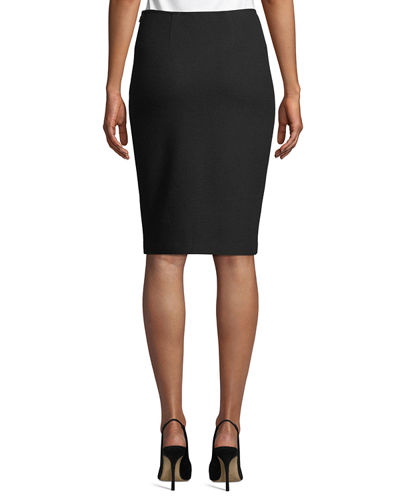 St. John Collection Micro Boucle Knit Pencil Skirt