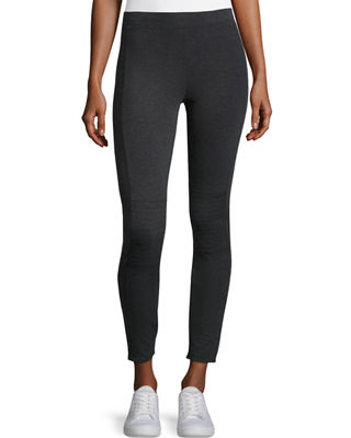 Grey State City Zip-Cuff Leggings