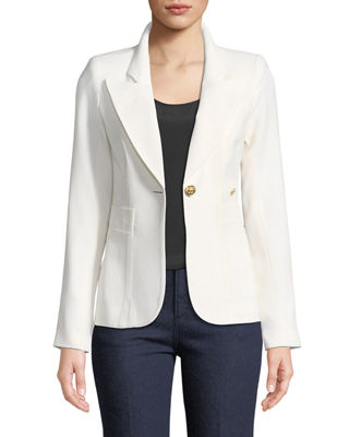 Duchess Single-Button Wool Blazer