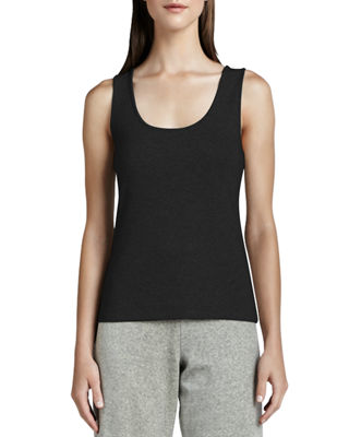 Image 1 of 2: Scoop-Neck Cotton Tank