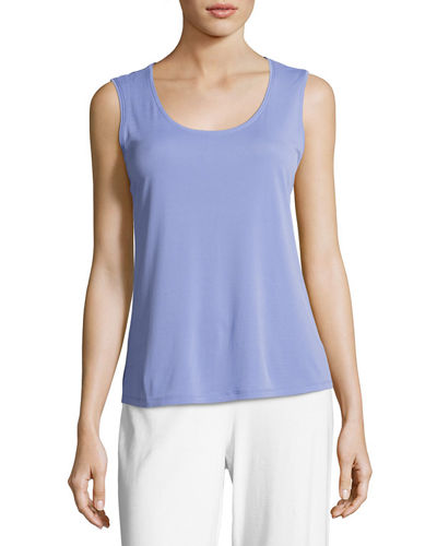 Eileen Fisher Silk Jersey Tank Top, Plus Size