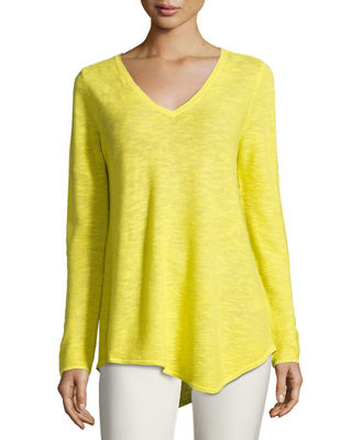 Eileen Fisher Long-Sleeve Organic Links Tunic