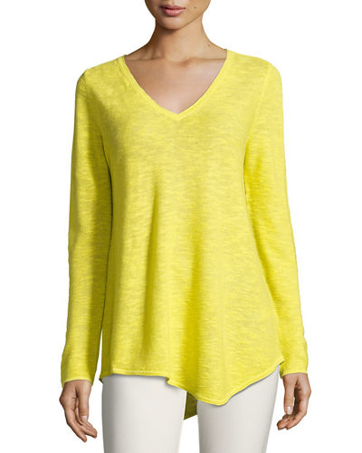 Eileen Fisher Long-Sleeve Organic Links Tunic, Plus Size