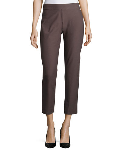Eileen Fisher Washable Stretch Crepe Ankle Pants, Petite
