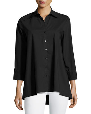 FINLEY TRAPEZE 3/4-SLEEVE BLOUSE