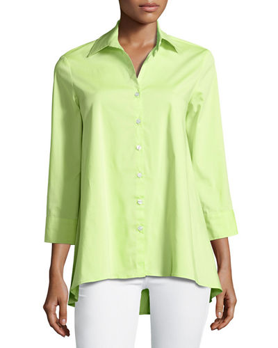 Trapeze 3/4-Sleeve Blouse, Plus Size