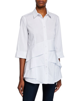 Finley Jenna Tiered-Ruffle Long Blouse
