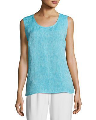 Image 1 of 4: Chambray Longer Tank
