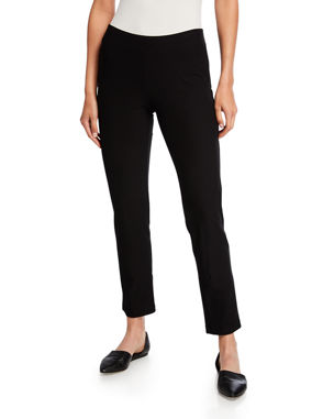 Eileen Fisher Washable Stretch-Crepe Slim Ankle Pants 3140207622d