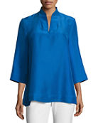 Eileen Fisher Silk Blouse & Crepe Pants &