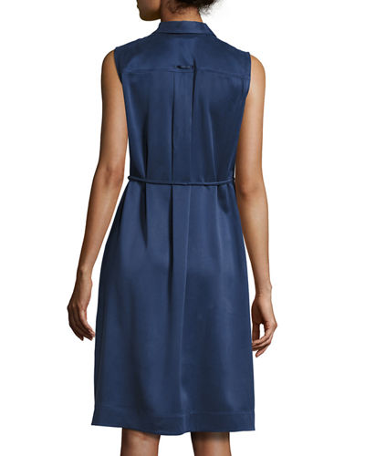 Robinson Sleeveless Silk Shirtdress