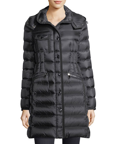 moncler black long coat