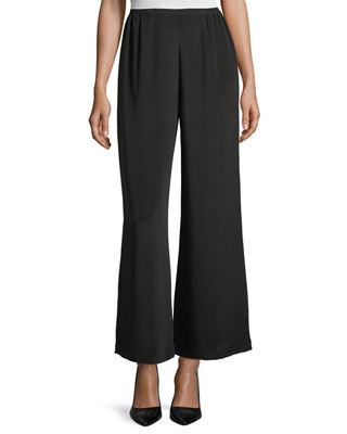 Caroline Rose Silk Crepe Wide-Leg Pants and Matching