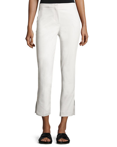 Helmut Lang Cropped Stretch Twill Kick Flare Pants