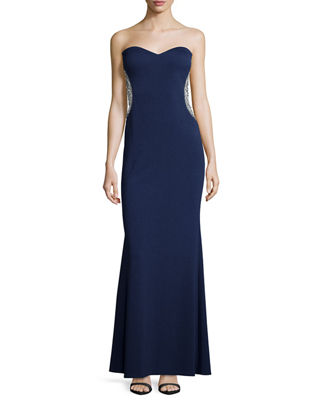 Mignon CREPE LONG STRAPLESS WITH BE
