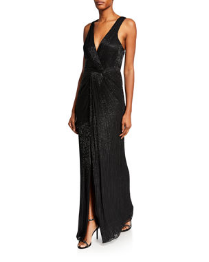 be55d1e5115 Parker Monarch Sequin V-Neck Sleeveless Gown