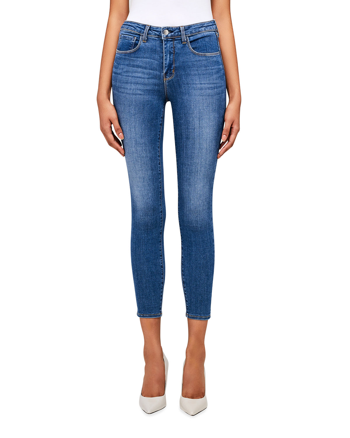 L'agence Jeans Margot High-Rise Skinny Ankle Jeans