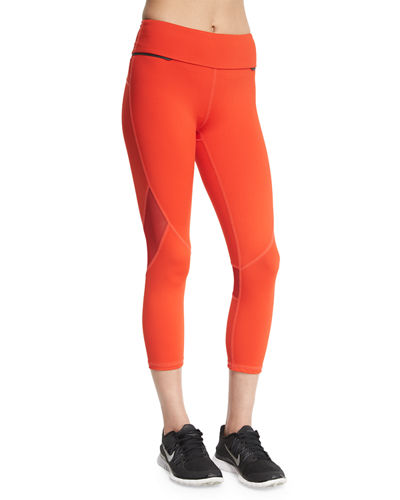 Captain Crop Colorblock Running Tights