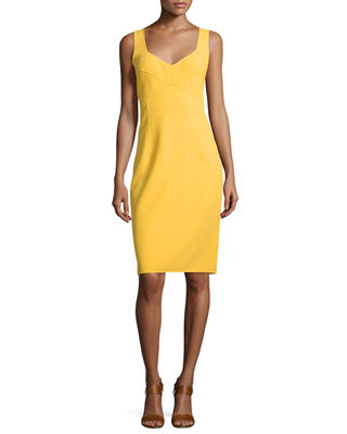 Michael Kors Collection Cross-Front Tank Sheath Dress
