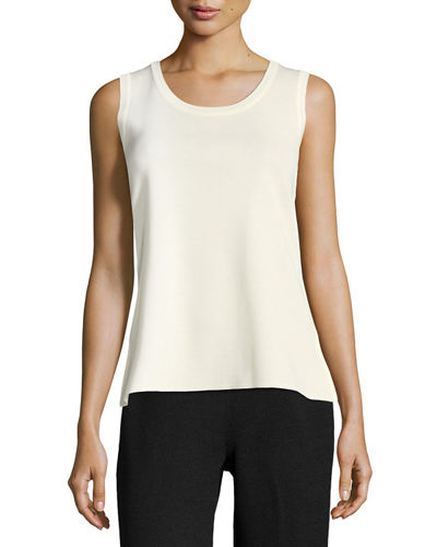 Scoop-Neck Knit Layering Tank