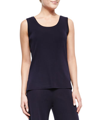 Image 1 of 2: Scoop-Neck Knit Layering Tank