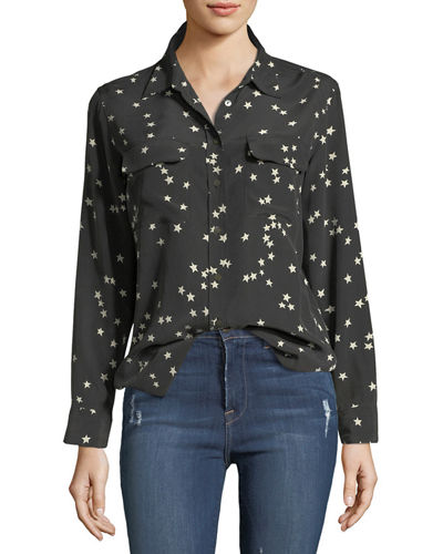 2baaebe41b03 Black Star Print Top