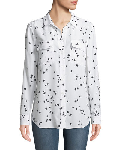 Slim Signature Star-Print Shirt