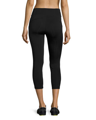 Image 2 of 3: Paneled High-Rise Cropped Leggings