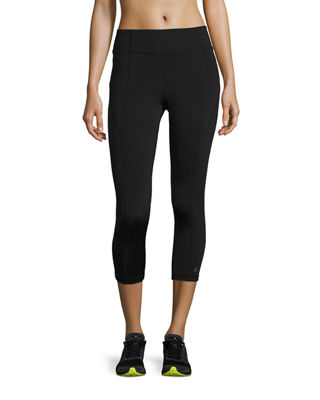 Paneled High-Rise Cropped Leggings