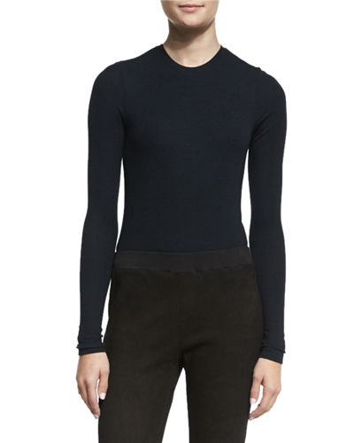 ATM Anthony Thomas Melillo Long-Sleeve Crewneck Bodysuit