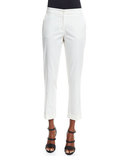 Etro Straight-Leg Capri Pants