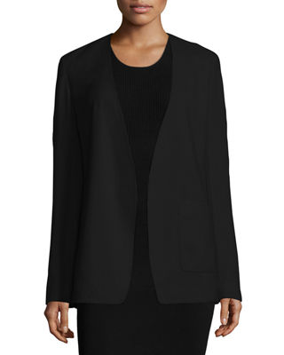 T by Alexander Wang Crepe Open-Front Blazer