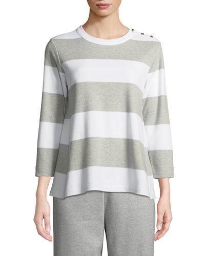 Plus Size Striped Pullover Top