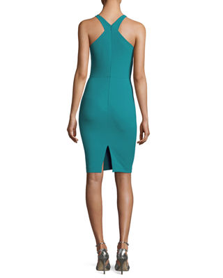 Image 2 of 2: Carolyn Halter-Neck Sheath Dress