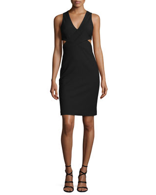 Elizabeth and James Aldridge Sleeveless Cutout Sheath Dress