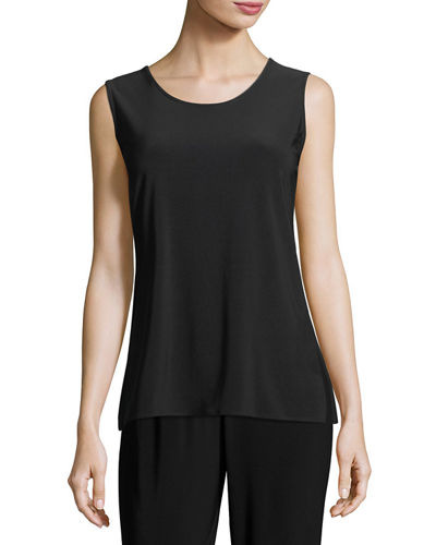 Caroline Rose Sleeveless Long Tank, Plus Size and