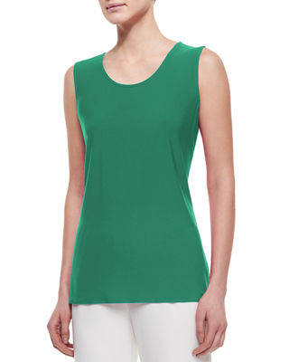 Image 1 of 2: Sleeveless Long Tank, Plus Size