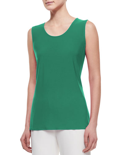 Sleeveless Long Tank, Plus Size