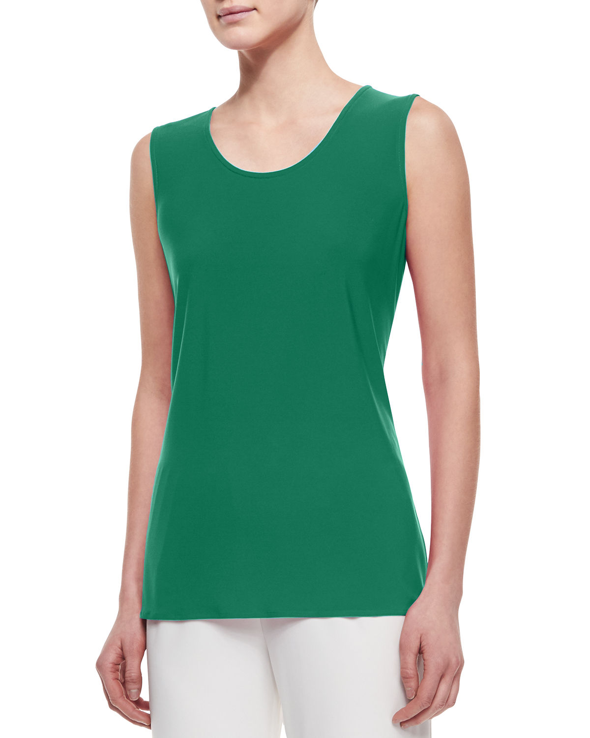 Sleeveless Long Tank, Petite