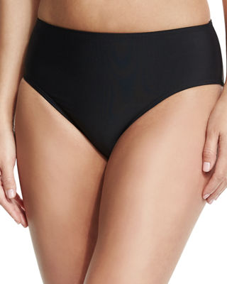 Cabana Solids Landa Mid-Rise Hipster Swim Bottom