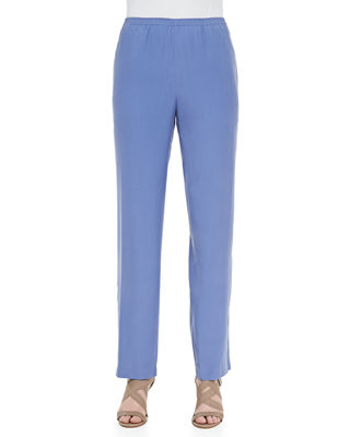 Go Silk Solid Pull-On Pants, Plus Size