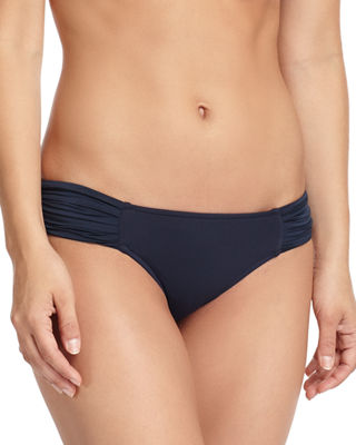 Image 1 of 2: Pleated-Side Hipster Swim Bikini Bottom