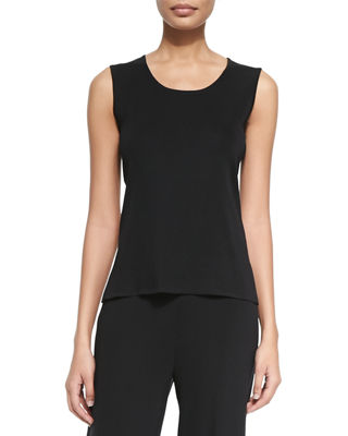 Image 1 of 2: Knit Scoop-Neck Tank Top, Petite
