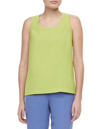 Easy-Fit Silk Tank, Petite, Plus Size
