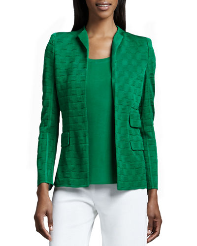 Misook Lilly Textured Jacket, Amy Knit Tank &