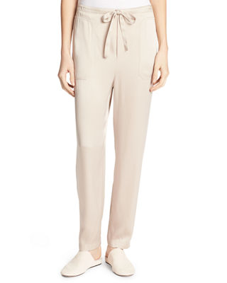 Drawstring-Waist Relaxed-Leg Pants