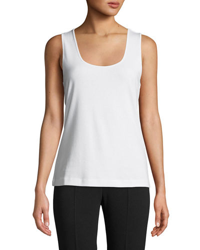 Petite Scoop-Neck Cotton Tank