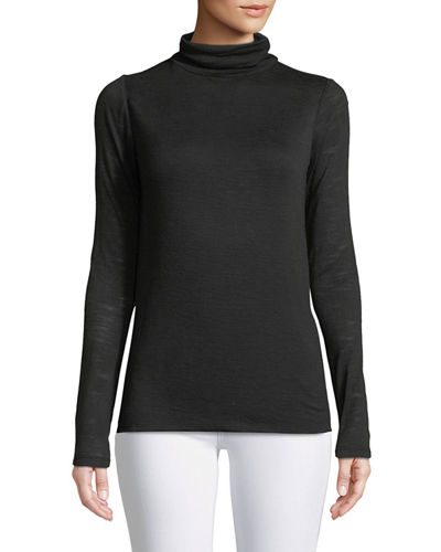 Halston Heritage Long-Sleeve Slim Turtleneck Tee