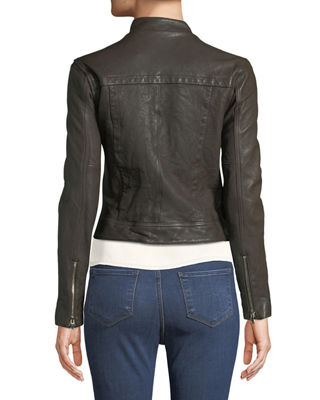 Image 2 of 3: Devon Leather Moto Jacket